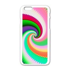 Colorful Spiral Dragon Scales   Apple iPhone 6/6S White Enamel Case