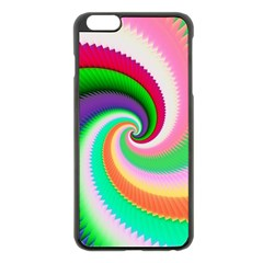 Colorful Spiral Dragon Scales   Apple Iphone 6 Plus/6s Plus Black Enamel Case by designworld65