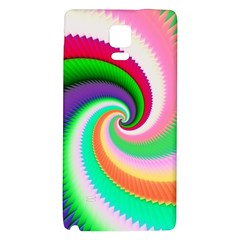 Colorful Spiral Dragon Scales   Galaxy Note 4 Back Case by designworld65