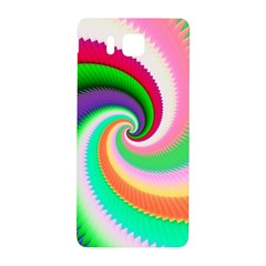 Colorful Spiral Dragon Scales   Samsung Galaxy Alpha Hardshell Back Case by designworld65