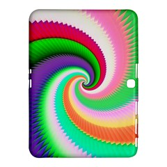 Colorful Spiral Dragon Scales   Samsung Galaxy Tab 4 (10 1 ) Hardshell Case  by designworld65