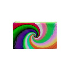 Colorful Spiral Dragon Scales   Cosmetic Bag (XS)