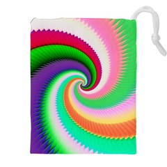 Colorful Spiral Dragon Scales   Drawstring Pouches (xxl) by designworld65