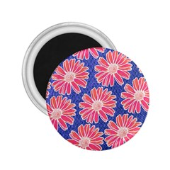 Pink Daisy Pattern 2 25  Magnets by DanaeStudio