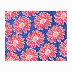 Pink Daisy Pattern Small Glasses Cloth by DanaeStudio