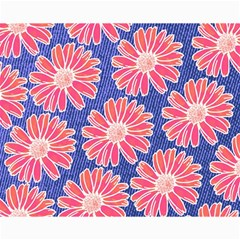 Pink Daisy Pattern Canvas 16  X 20   by DanaeStudio