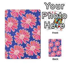 Pink Daisy Pattern Multi Purpose Cards (rectangle)  by DanaeStudio
