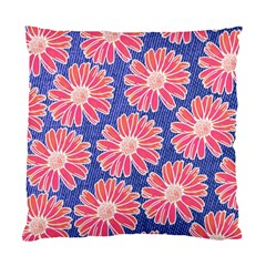 Pink Daisy Pattern Standard Cushion Case (two Sides) by DanaeStudio