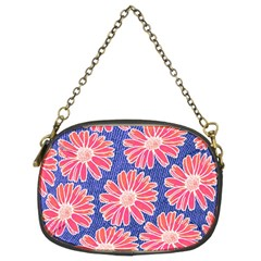 Pink Daisy Pattern Chain Purses (two Sides)  by DanaeStudio