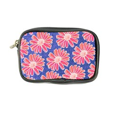 Pink Daisy Pattern Coin Purse by DanaeStudio