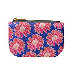 Pink Daisy Pattern Mini Coin Purses by DanaeStudio