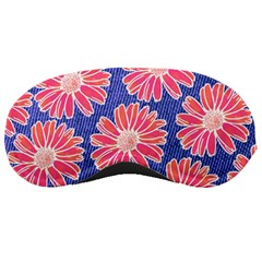 Pink Daisy Pattern Sleeping Masks by DanaeStudio