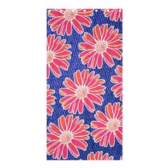 Pink Daisy Pattern Shower Curtain 36  X 72  (stall)  by DanaeStudio