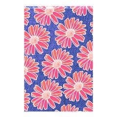Pink Daisy Pattern Shower Curtain 48  X 72  (small)  by DanaeStudio