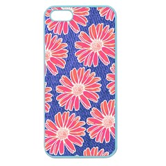 Pink Daisy Pattern Apple Seamless Iphone 5 Case (color) by DanaeStudio