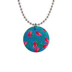 Carnations Button Necklaces