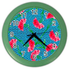 Carnations Color Wall Clocks