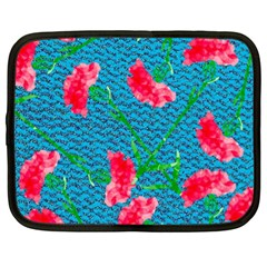 Carnations Netbook Case (XL)
