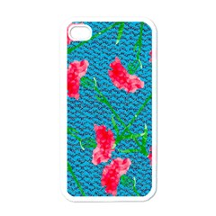 Carnations Apple iPhone 4 Case (White)