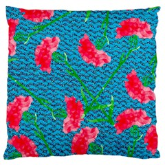 Carnations Large Cushion Case (one Side) by DanaeStudio