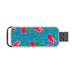 Carnations Portable USB Flash (Two Sides)