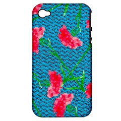 Carnations Apple iPhone 4/4S Hardshell Case (PC+Silicone)