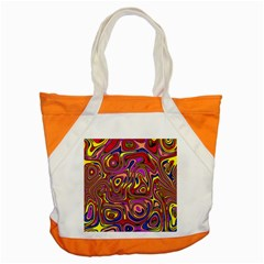 Abstract Shimmering Multicolor Swirly Accent Tote Bag by designworld65