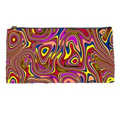 Abstract Shimmering Multicolor Swirly Pencil Cases by designworld65
