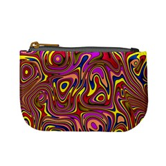 Abstract Shimmering Multicolor Swirly Mini Coin Purses by designworld65