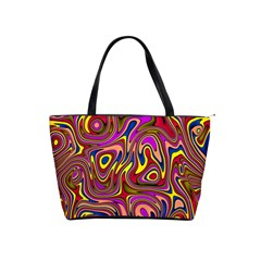 Abstract Shimmering Multicolor Swirly Shoulder Handbags by designworld65