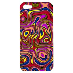 Abstract Shimmering Multicolor Swirly Apple Iphone 5 Hardshell Case by designworld65