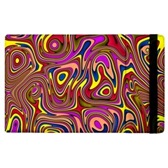 Abstract Shimmering Multicolor Swirly Apple Ipad 3/4 Flip Case by designworld65
