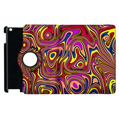 Abstract Shimmering Multicolor Swirly Apple Ipad 3/4 Flip 360 Case by designworld65