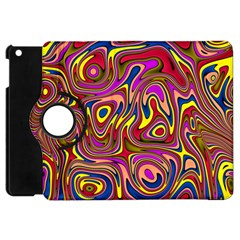 Abstract Shimmering Multicolor Swirly Apple Ipad Mini Flip 360 Case by designworld65