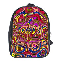Abstract Shimmering Multicolor Swirly School Bags (xl)  by designworld65