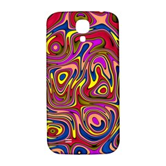 Abstract Shimmering Multicolor Swirly Samsung Galaxy S4 I9500/i9505  Hardshell Back Case by designworld65