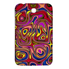 Abstract Shimmering Multicolor Swirly Samsung Galaxy Tab 3 (7 ) P3200 Hardshell Case  by designworld65