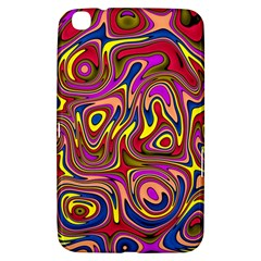 Abstract Shimmering Multicolor Swirly Samsung Galaxy Tab 3 (8 ) T3100 Hardshell Case  by designworld65
