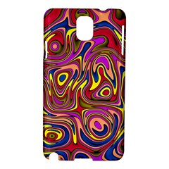 Abstract Shimmering Multicolor Swirly Samsung Galaxy Note 3 N9005 Hardshell Case by designworld65