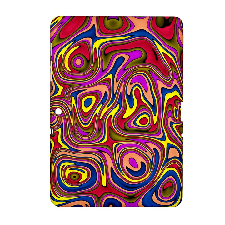 Abstract Shimmering Multicolor Swirly Samsung Galaxy Tab 2 (10.1 ) P5100 Hardshell Case