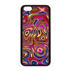 Abstract Shimmering Multicolor Swirly Apple Iphone 5c Seamless Case (black) by designworld65