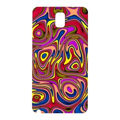 Abstract Shimmering Multicolor Swirly Samsung Galaxy Note 3 N9005 Hardshell Back Case by designworld65