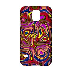 Abstract Shimmering Multicolor Swirly Samsung Galaxy S5 Hardshell Case  by designworld65