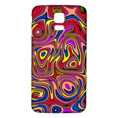 Abstract Shimmering Multicolor Swirly Samsung Galaxy S5 Back Case (white) by designworld65