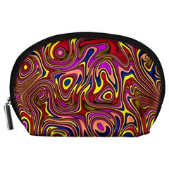 Abstract Shimmering Multicolor Swirly Accessory Pouches (large)  by designworld65