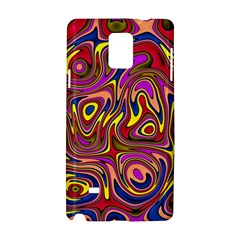 Abstract Shimmering Multicolor Swirly Samsung Galaxy Note 4 Hardshell Case by designworld65