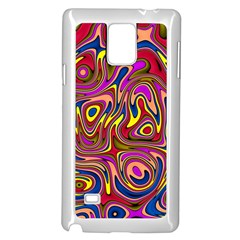 Abstract Shimmering Multicolor Swirly Samsung Galaxy Note 4 Case (white) by designworld65