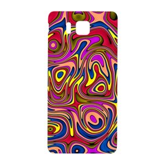 Abstract Shimmering Multicolor Swirly Samsung Galaxy Alpha Hardshell Back Case by designworld65