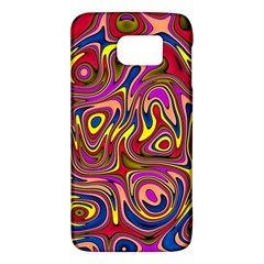 Abstract Shimmering Multicolor Swirly Galaxy S6 by designworld65