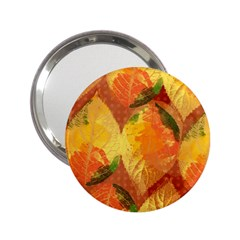 Fall Colors Leaves Pattern 2 25  Handbag Mirrors by DanaeStudio